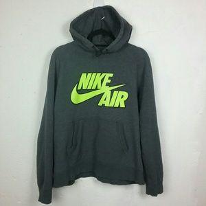 Nike Air Hoodie Sweatshirt Gray Neon Green